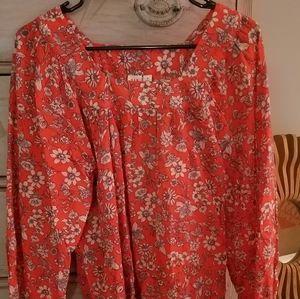 GAP square neck blouse
